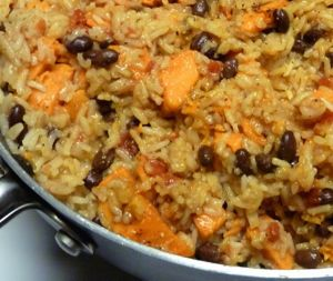 Middle Eastern style Rice with Black Beans and Chickpeas